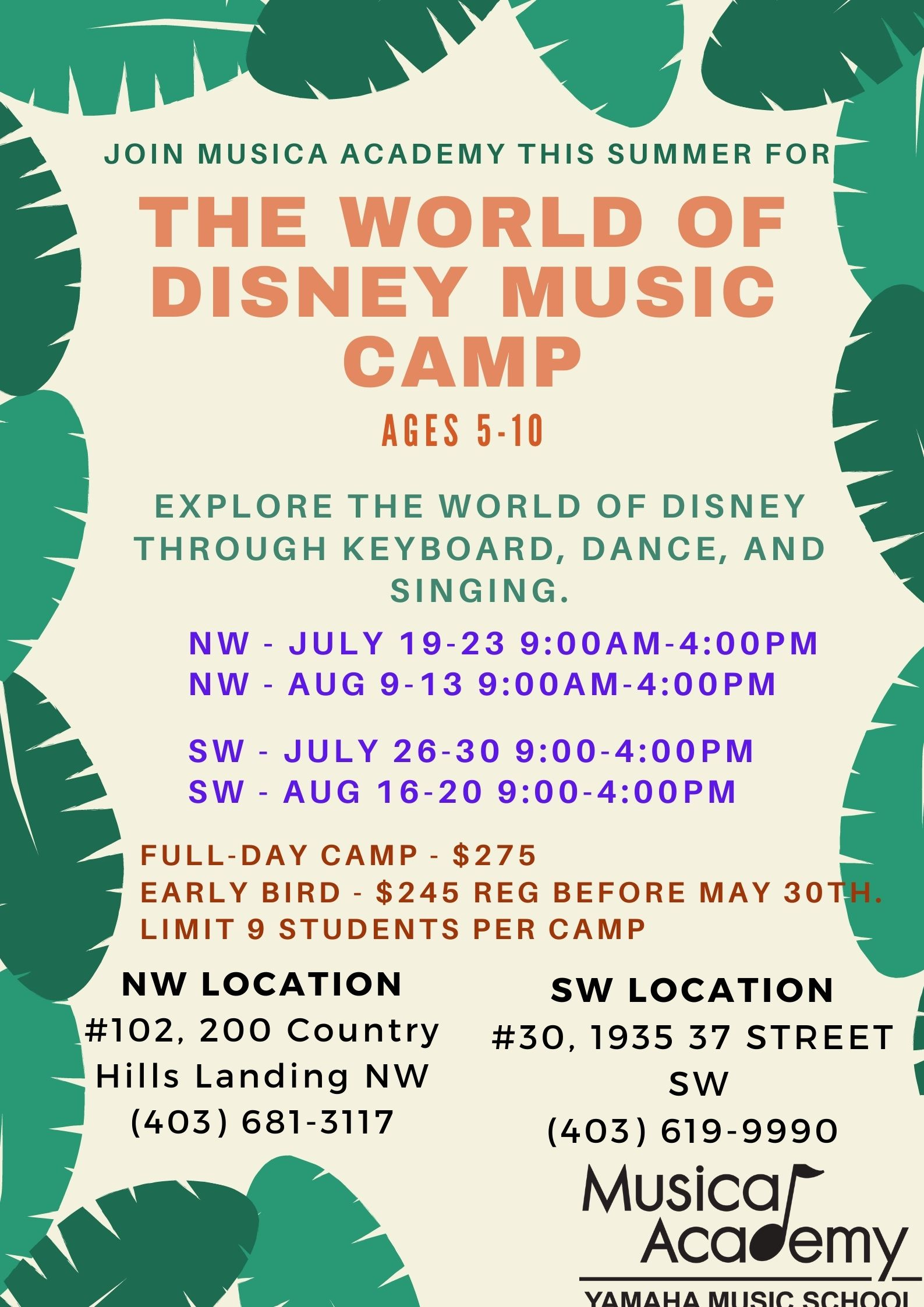 Disney Music Camp Green Poster
